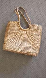 Bamboo / Rattan Straw Beach Bag