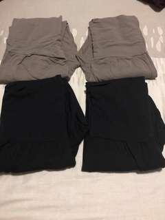 🚚 M sized bamboo fiber maternity leggings bundle