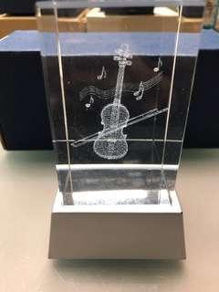 🔮飾品系列二💎射燈水晶擺設 精品💎 Violin 小提琴🎻 📦連包裝紙盒