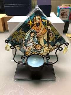 🔮飾品系列一💎耶穌誕生 蠟蠋擺設 彩繪玻璃 💠Jesus Christ/ Candle📦連包裝紙盒