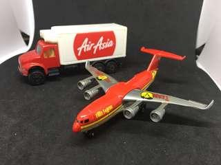 Matchbox plane and AirAsia truck
