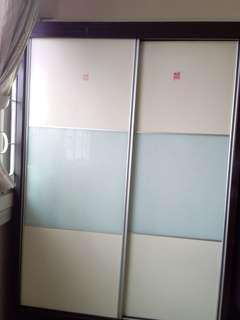 Sliding door wardrobe with mirror for sale!!
