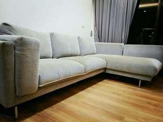 Ikea二手三人布沙發