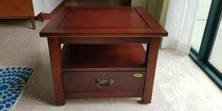Used solid wood Side Table (2 units)