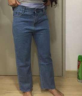 Loose denim jeans High waist