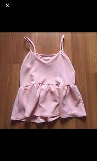 Sleeveless Baby Pink Blouse