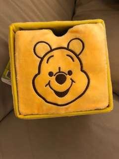 全新 小熊維尼 方形絨毛置物盒收納盒 萬用小小收納櫃