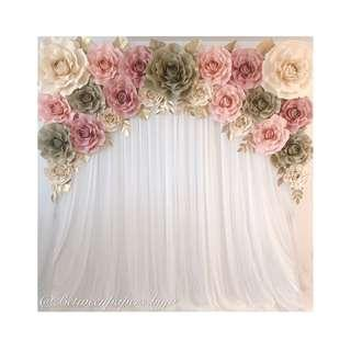 Paper roses backdrop