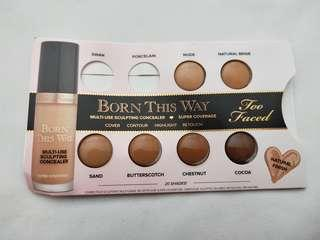 Free with purchase! Too Faced Born This Way Concealer Sample Pack
