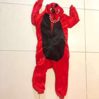 Red Dragon Onesie for Kids