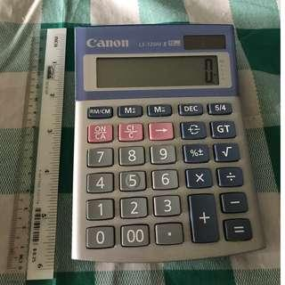 Calculator used but near new condition Canon LS-120Hi II. Has a marker written name at the back of calculator