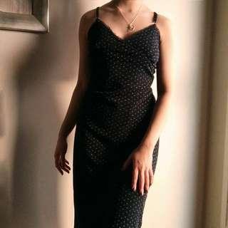 Vintage floral midi slip dress