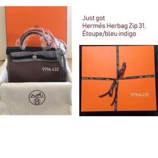 c795309493 Brand New Instock Hermes Herbag Zip 31
