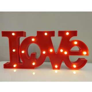 """LOVE"" LED light deco"
