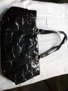 Coach70%新 黑色漆皮手袋