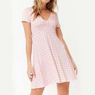 Forever 21 Light Pink Gingham Dress