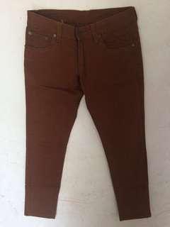 Brown Jeans Trousers / Celana Jeans Warna Cokelat Gabrielle