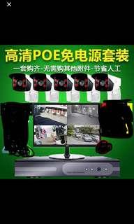 CCTV system with 6ch 1080P HD