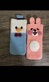 毛線編織iPhone手機套 #毛線編織 #手機套 #唐老鴨 #兔兔 #卡娜赫拉