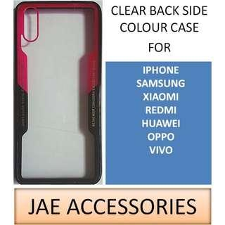 Y2K Side Colour Clear Case for Iphone Samsung Huawei etc