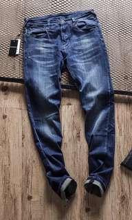 100%New Emporio Armani藍色洗水牛仔褲長褲休閒褲 Pants Jeans Size 33