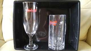 全新 美國 Budweiser 啤酒杯 共兩款 兩個