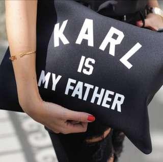 Karl is my father oversized clutch