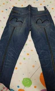 EVISU 牛仔褲 32 x 34