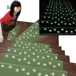 Luminous Stair Carpet Pads Self-Adhesive Staircase Mats