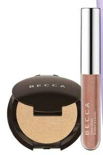**PRICE DROP** Becca Minis - Champagne Pop Highlighter & Rose Gold Glow Gloss