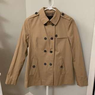 Zara Short Trench Coat (Size XS)