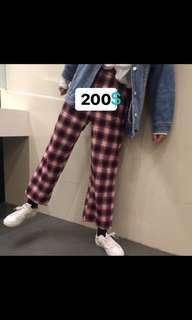 🚚 格子褲