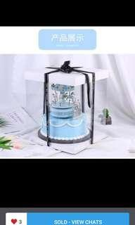 "Transparent Cake Box (6"",8"",10"")"
