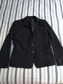 Uniqlo office lady black blazer top