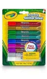 Crayola Washable Glitter Glue - Flecks (9 colours)