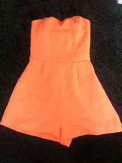 3a98366fc1 Kookai size 38 orange   salmon coloured playsuit jumpsuit with pockets