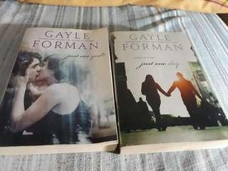 """PRELOVED-GAYLE FORMAN's """"JUST ONE DAY"""" & """"JUST ONE YEAR"""""""