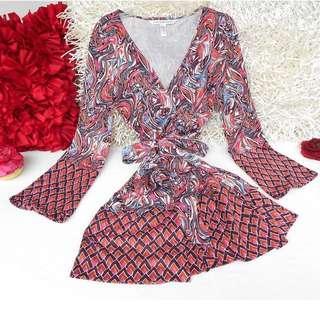 Authentic DVF Wrap Dress Diamond Snake
