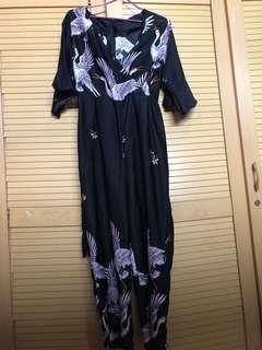 FREE ONGKIR‼️ Bird Long Dress