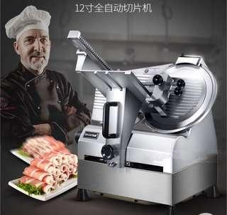 Automatic commercial meat cutter beef and mutton roll 12 inch stainless steel electric bench meat cutting machine LC-QRJ01