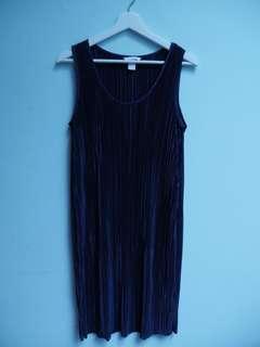 Dress Pleats Biru Dongker