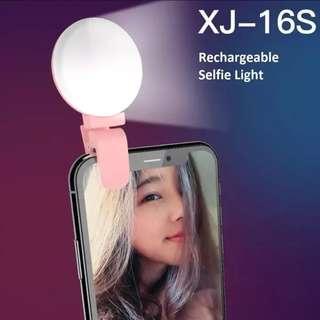 Selfie Ring Light LED Flash Lamp Rechargeable Mini Portable Universal Mobile Phone Camera Clip on