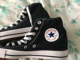 BRAND NEW black high top converse