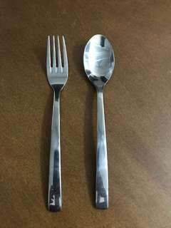 SS Spoon and Fork