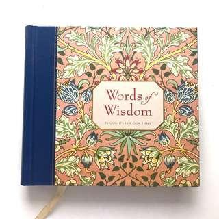 Words of Wisdom Inspiration Book