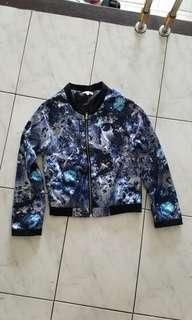 Floral blue track jacket import