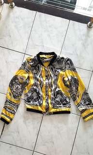Yellow patterned jacket import