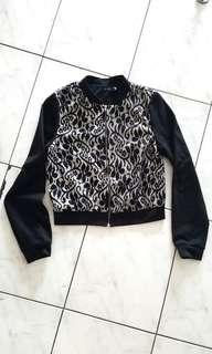 Black lace track jacket import