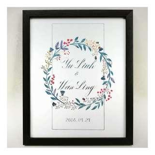 Framed Calligraphy Piece
