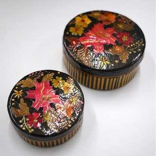 Nested Lacquer Trinket Box
